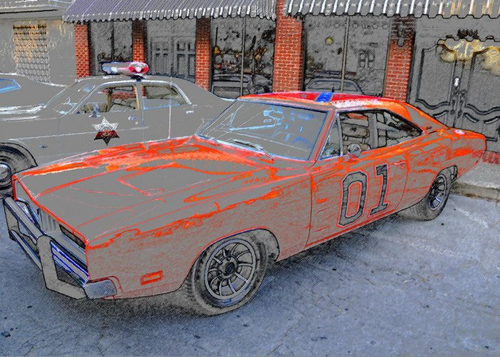 Art Greeting Card featuring the painting General Lee One by David Lee Thompson