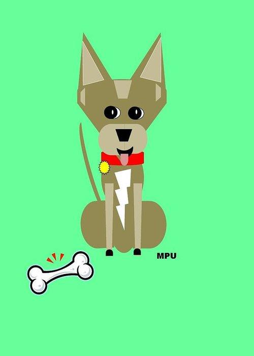 Chihuahua Greeting Card featuring the digital art Geo Chihuahua by Maria Urso