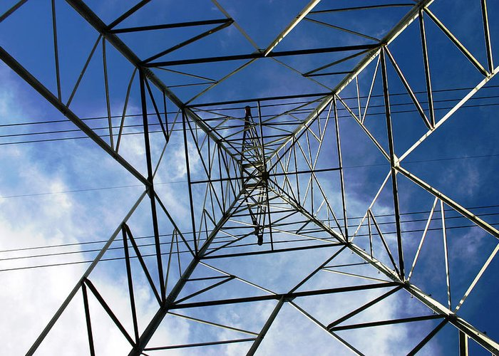 Electric Greeting Card featuring the photograph Geometry by Nina Fosdick