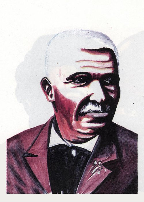 Georges Washington Carver Greeting Card featuring the painting Georges Washington Carver by Emmanuel Baliyanga