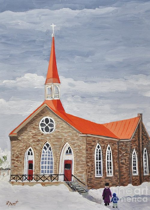 Georgetown Presbyterian Church Greeting Card featuring the painting Georgetown Presbyterian Church by Reb Frost