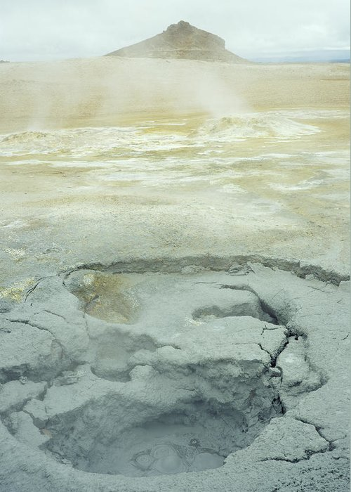 Mud Greeting Card featuring the photograph Geothermal Spring by Dirk Wiersma