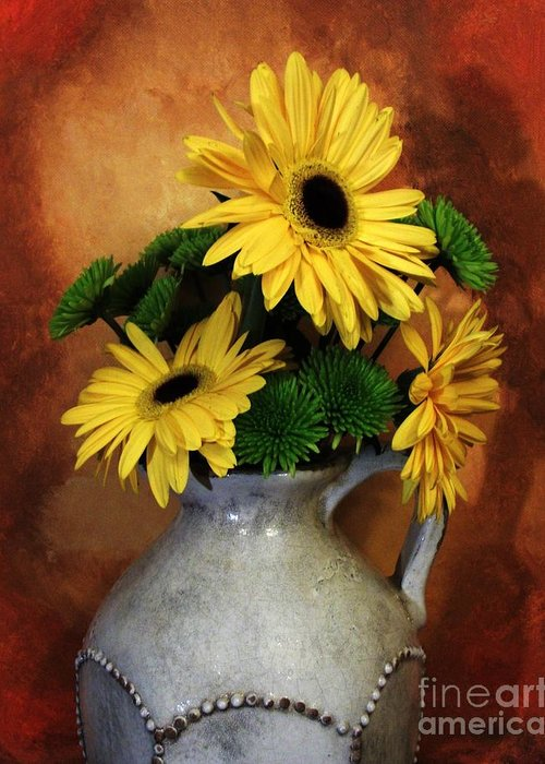 Photo Greeting Card featuring the photograph Gerber Yellow Daisies by Marsha Heiken