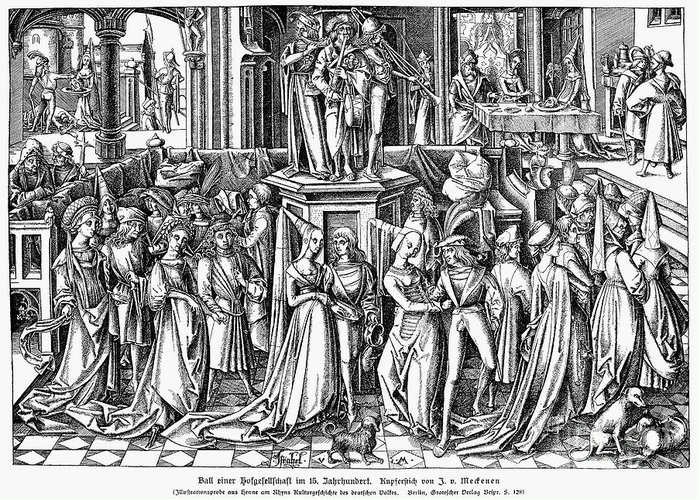 16th Century Greeting Card featuring the photograph Germany: Medieval Ball by Granger