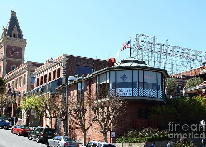 San Francisco Greeting Card featuring the photograph Ghirardelli Chocolate Factory San Francisco California . 7d14093 by Wingsdomain Art and Photography