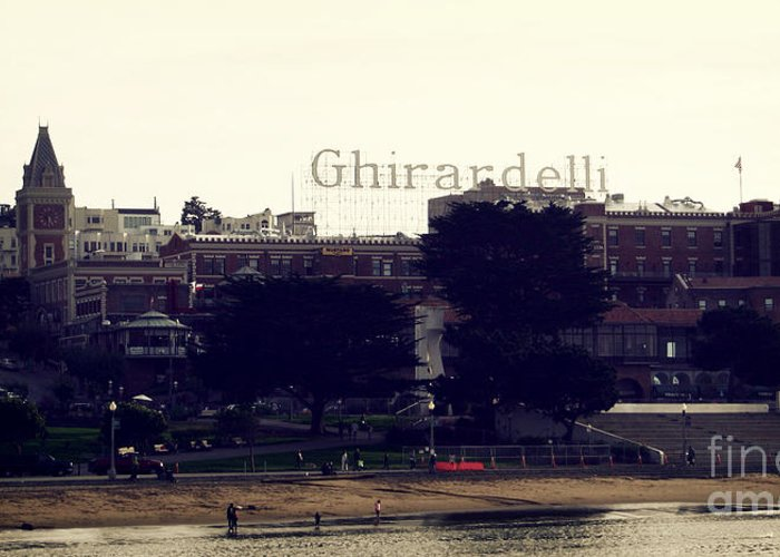 Ghirardelli Greeting Card featuring the photograph Ghirardelli Square by Linda Woods
