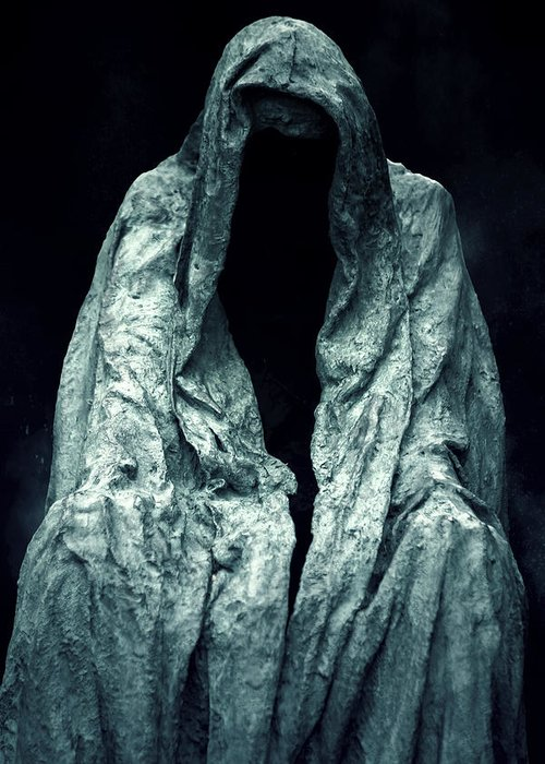 Sculpture Greeting Card featuring the photograph Ghost by Joana Kruse
