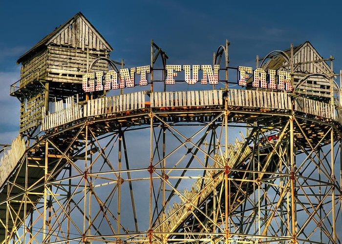 Fair Greeting Card featuring the photograph Giant Fun Fair by Adrian Evans