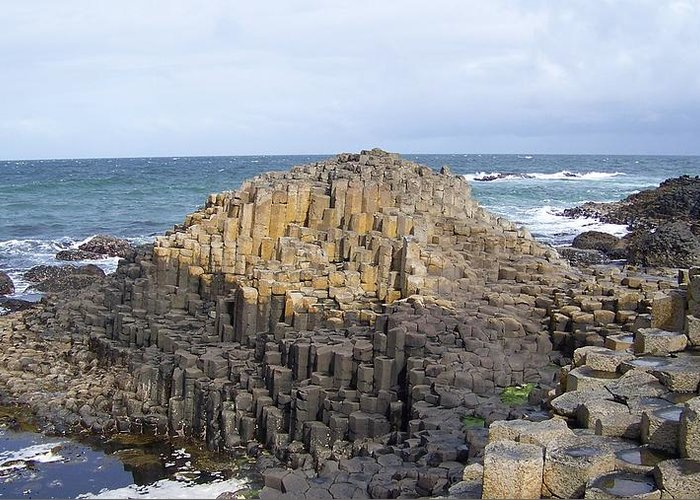 Ireland Greeting Card featuring the photograph Giants Causeway by Cathryn Brown