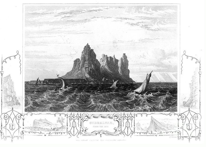19th Century Greeting Card featuring the photograph Gibraltar, 19th Century by Granger