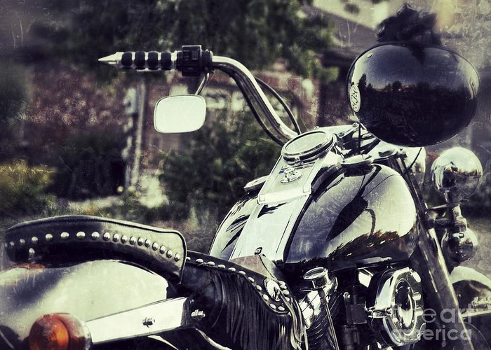 Motorcycle Greeting Card featuring the photograph Giddy Up by Traci Cottingham