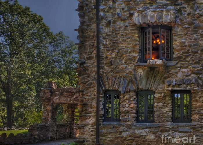 Gillete Castle Greeting Card featuring the photograph Gillette Castle Exterior Hdr by Susan Candelario