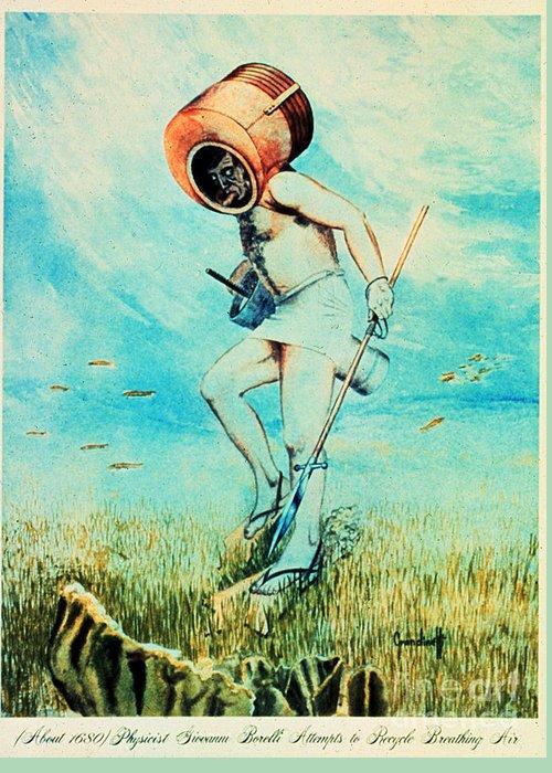 Giovanni Borelli Greeting Card featuring the photograph Giovanni Borelli Underwater by Science Source