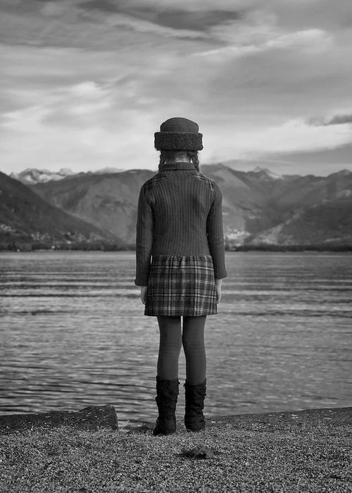 Girls Greeting Card featuring the photograph Girl At A Lake by Joana Kruse