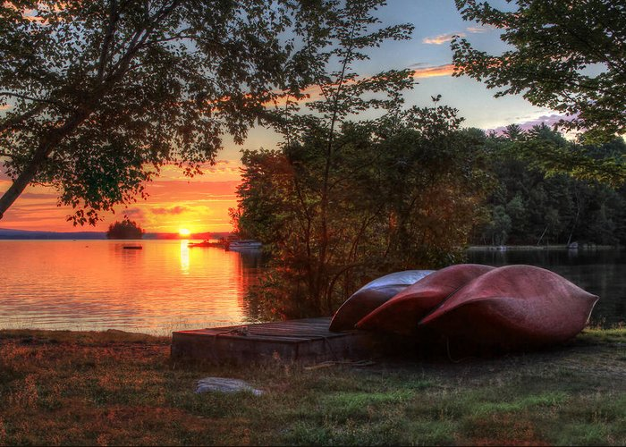 Canoe Greeting Card featuring the photograph Give Me A Canoe by Lori Deiter