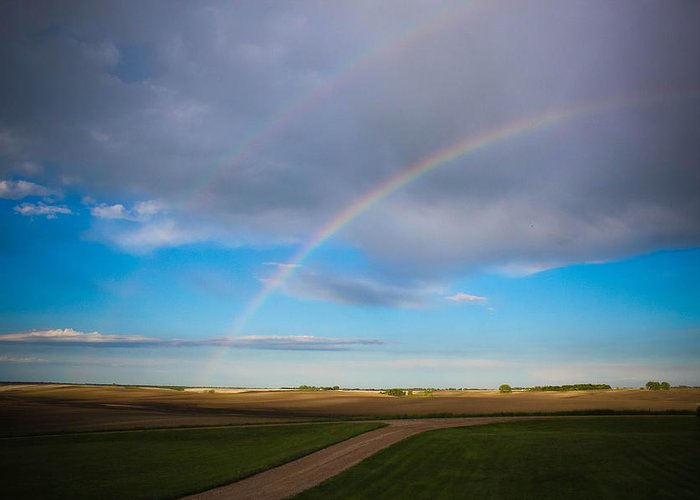 Rainbow Greeting Card featuring the photograph Give Me A Double by Christy Patino