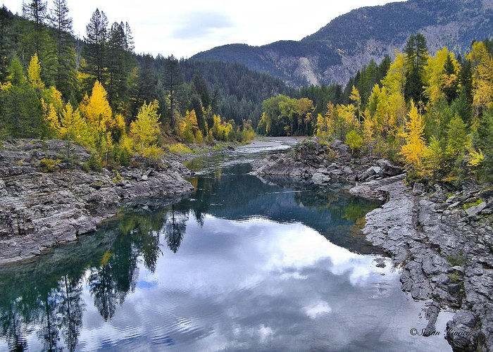 Photo Art Greeting Card featuring the photograph Glacier Reflection by Susan Kinney
