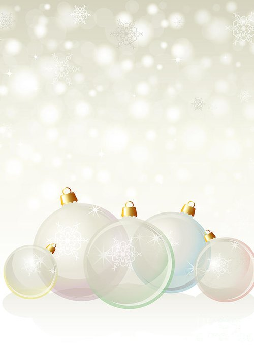 Background Greeting Card featuring the photograph Glass Baubles Pastel by Jane Rix