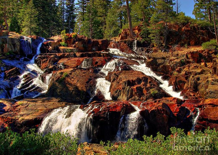Glen Alpine Falls Greeting Card featuring the photograph Glen Alpine Falls by Scott McGuire