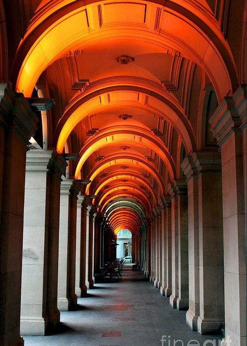 Arch Greeting Card featuring the photograph Glowing Iteration by Andrew Paranavitana