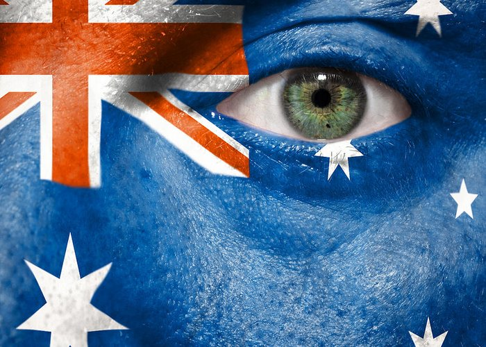 2012 Greeting Card featuring the photograph Go Australia by Semmick Photo