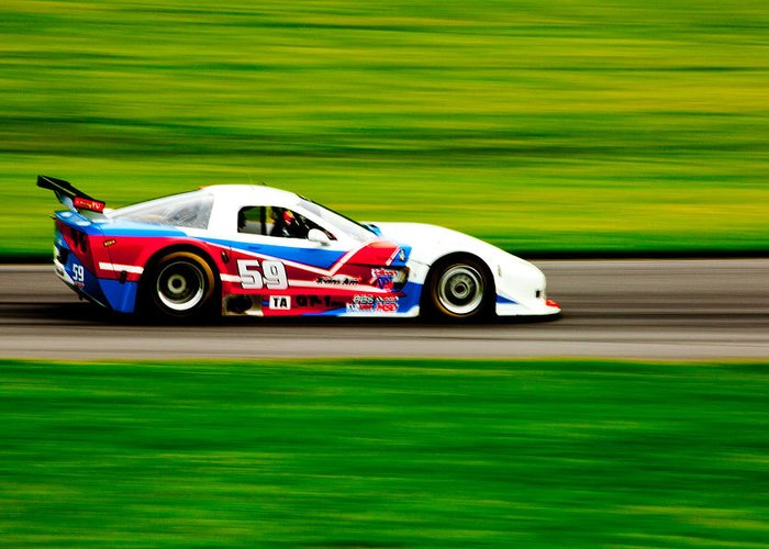 Racing Greeting Card featuring the photograph Go Speed Racer Go by Karol Livote