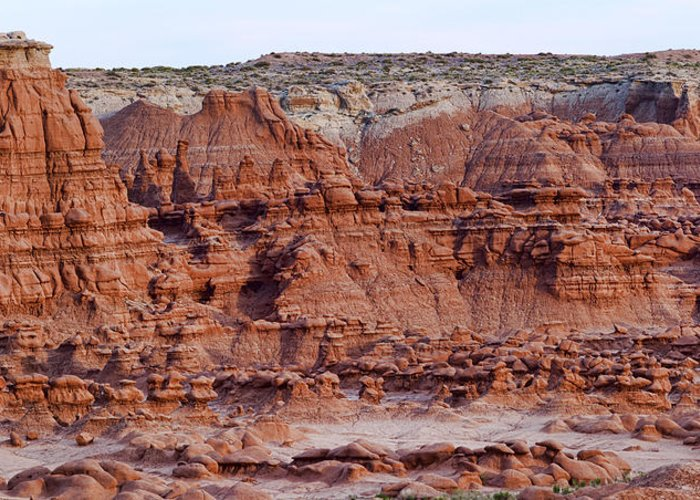Goblin Greeting Card featuring the photograph Goblin Valley Triptych Center by Gregory Scott