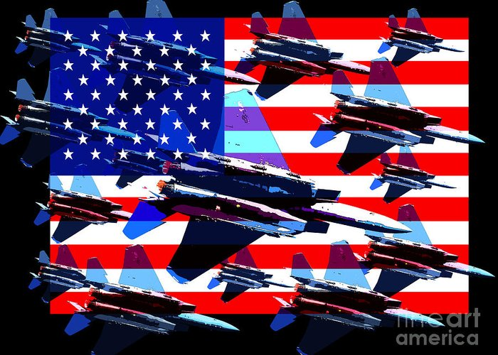 Transportation Greeting Card featuring the photograph God Bless America Land Of The Free 2 by Wingsdomain Art and Photography