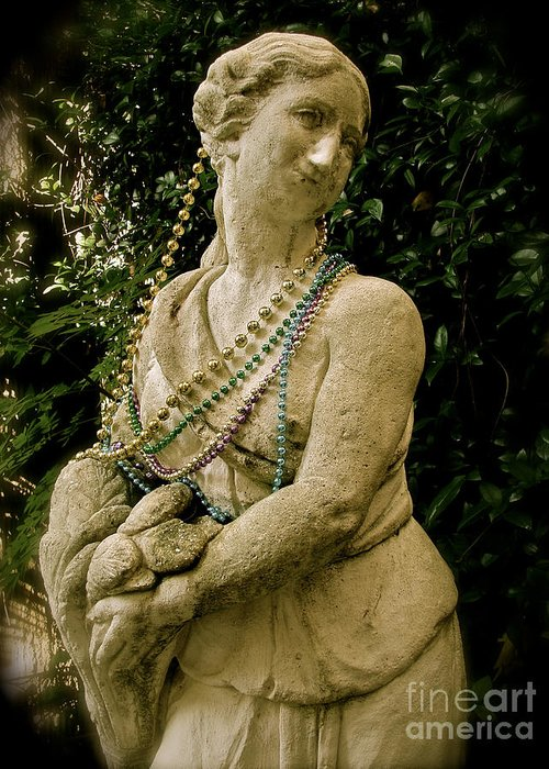 New Orleans Greeting Card featuring the photograph Goddess Of The Bayou by Laura Brightwood