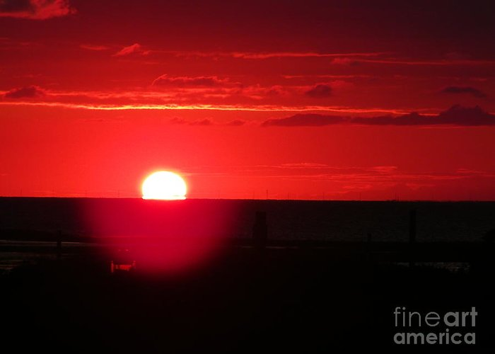 Sunset Greeting Card featuring the photograph Going Down by Valerie Nelson