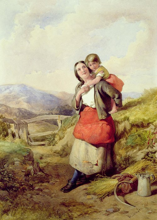 Mother Greeting Card featuring the painting Going Home by William Lee