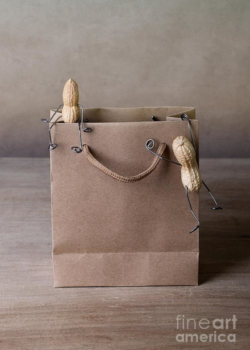 Peanut Greeting Card featuring the photograph Going Shopping 02 by Nailia Schwarz