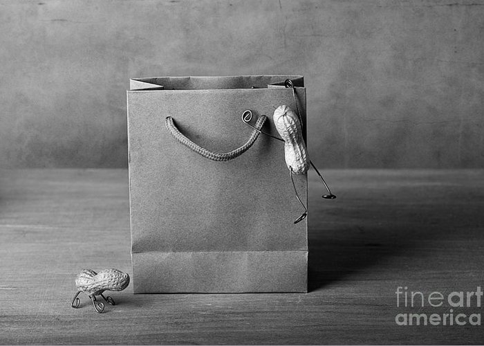 Peanut Greeting Card featuring the photograph Going Shopping 04 by Nailia Schwarz