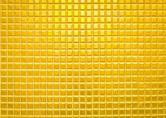 Abstract Greeting Card featuring the photograph Gold Background by Tom Gowanlock