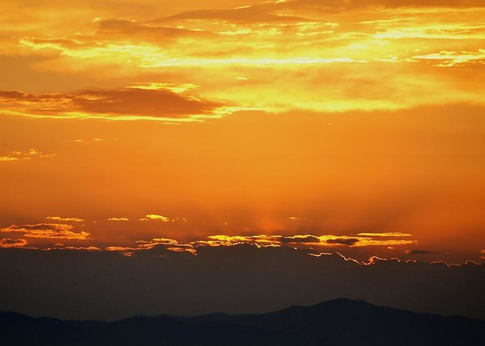 Sunset Greeting Card featuring the photograph Golden Evening by Kevin Bone