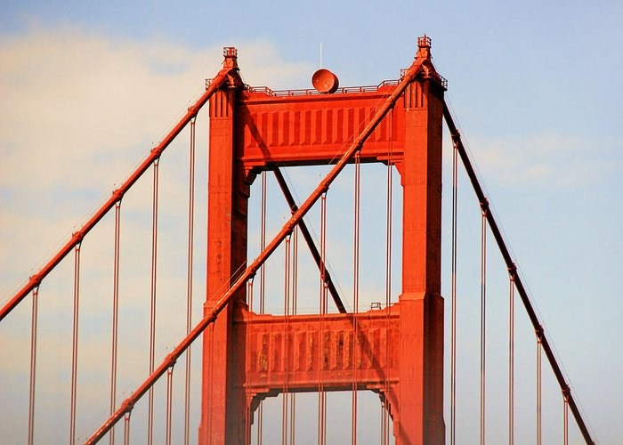 Top Greeting Card featuring the photograph Golden Gate Bridge - Nothing Equals Its Majesty by Christine Till