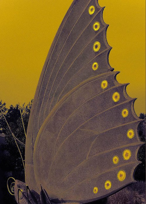 Butterfly Greeting Card featuring the digital art Golden Wings by Kendra Steiner