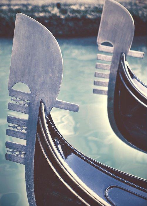 Swords Greeting Card featuring the photograph gondolas - Venice by Joana Kruse