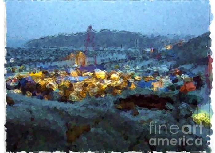 Landscapes Greeting Card featuring the painting Goteborg - Sweden by Franck Guarinos