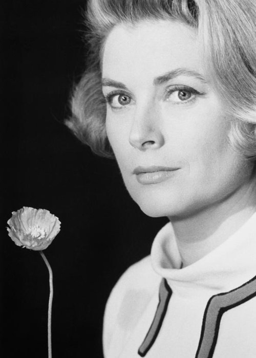 1966 Greeting Card featuring the photograph Grace Kelly (1928-1982) by Granger