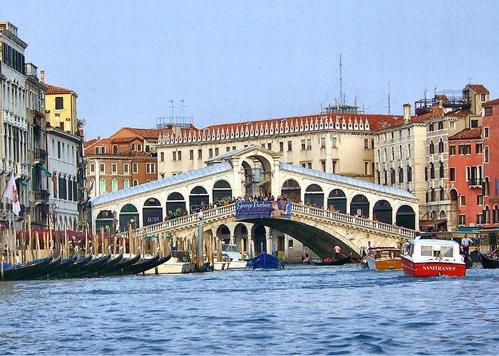 Italy Greeting Card featuring the photograph Grand Canal by Cathryn Brown
