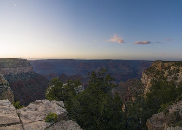 Panorama Of The Grand Canyon Greeting Card featuring the photograph Grand Canyon Arizona by Patrick Warneka