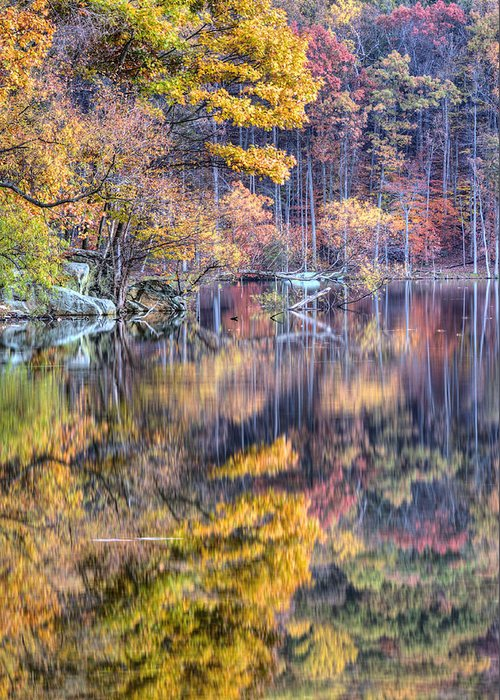 Cunningham Falls Greeting Card featuring the photograph Grand Reflections by JC Findley