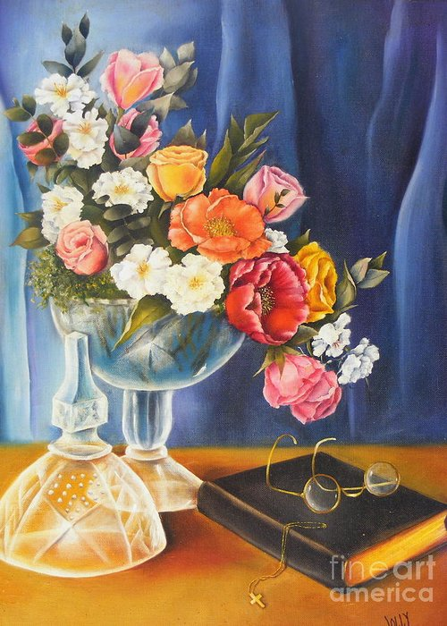 Still Life Greeting Card featuring the painting Grandma by Jane Jolly Chappell