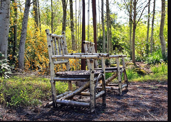 Chairs Greeting Card featuring the photograph Grandmas Country Chairs by Athena Mckinzie