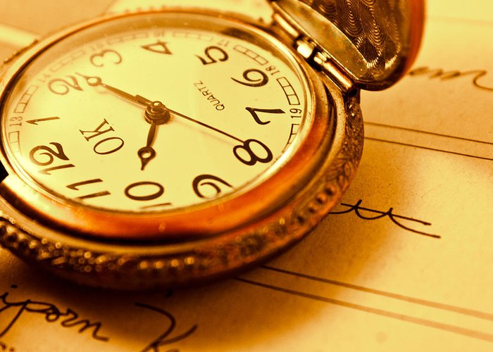 Antique Greeting Card featuring the photograph Grandpa Watch by Natapol Chananuwong