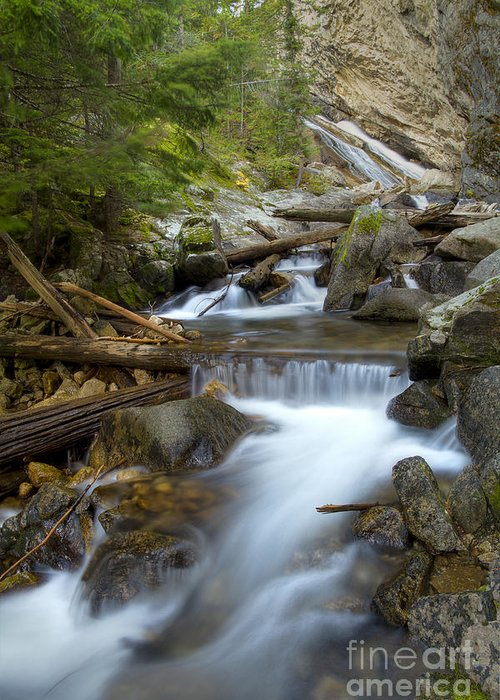 Boulders Greeting Card featuring the photograph Granite Creek by Idaho Scenic Images Linda Lantzy