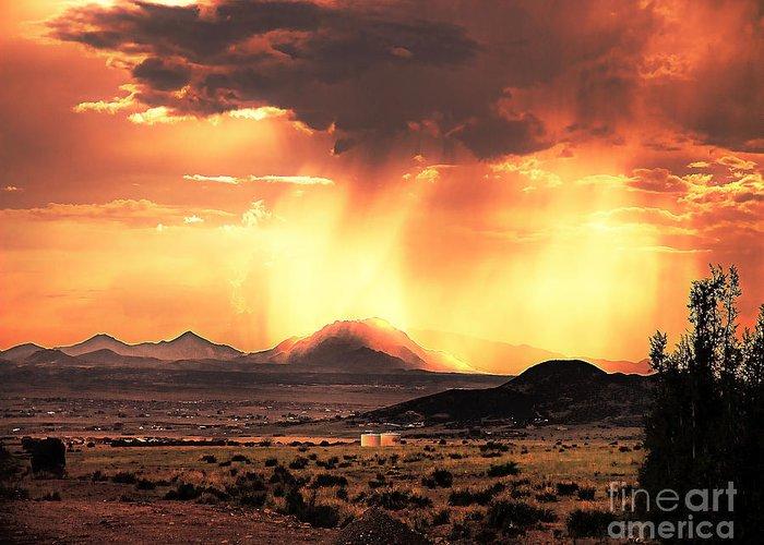 Arne J Hansen Greeting Card featuring the photograph Granite Mountain by Arne Hansen