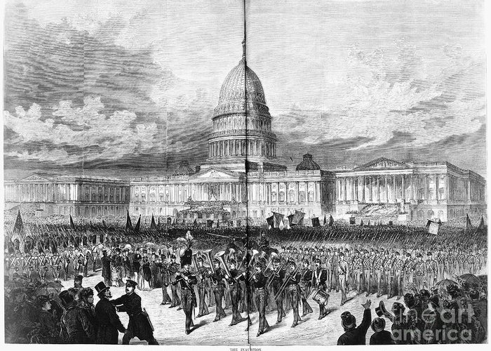 1873 Greeting Card featuring the photograph Grants Inauguration, 1873 by Granger