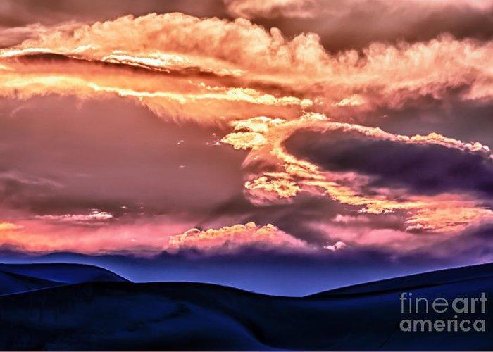 Landscape Greeting Card featuring the photograph Great Sand Dunes Ascention by Scotts Scapes